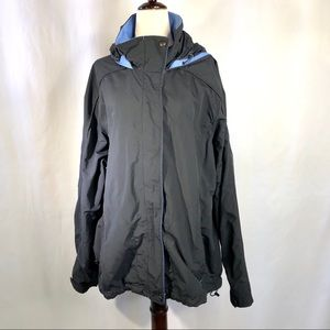 L.L. Bean 3-in-1 outer jacket only black blue XL